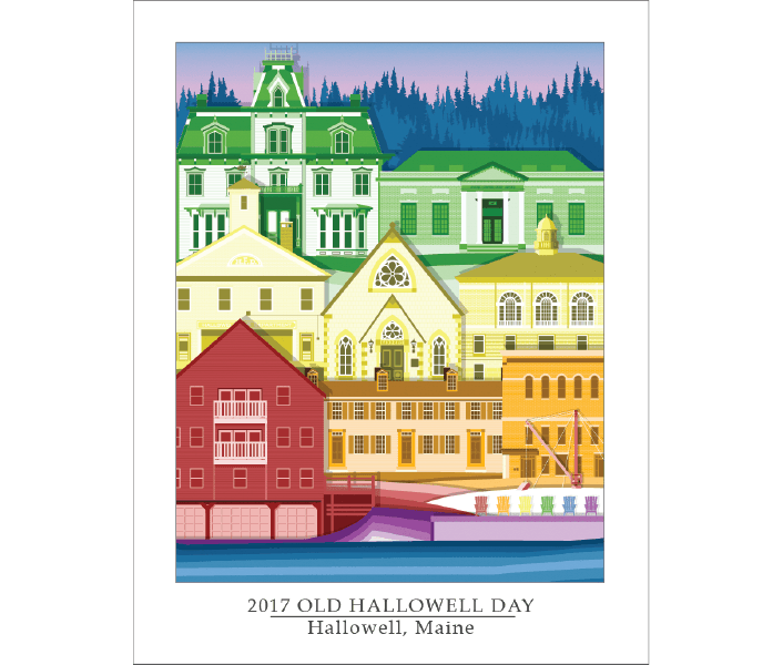 2017 Old Hallowell Day Poster design by Brian Ayotte